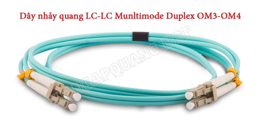 Dây nhảy quang LC-LC Munltimode Deplex OM3, OM4
