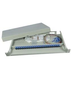 Hộp phối quang ODF 12FO đầy đủ phụ kiện gắn rack 19″