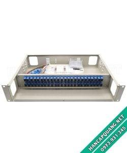 Hộp phối quang ODF 48FO đầy đủ phụ kiện gắn rack 19″