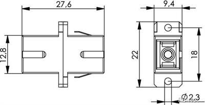 Đầu nối quang SC-SC/APC Simplex (Xanh dương)