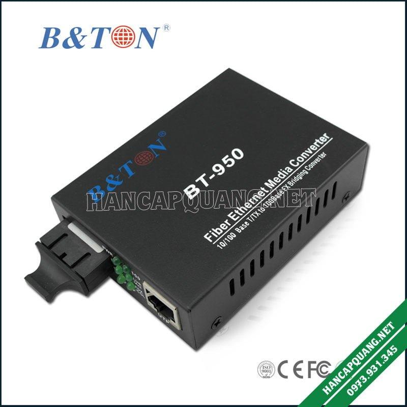 Converter quang BTON 950SM 10/100M 25Km 2 sợi quang