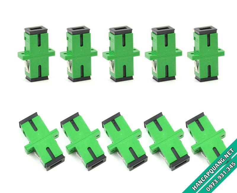 Đầu nối quang SC-SC APC Simplex (Xanh lá)