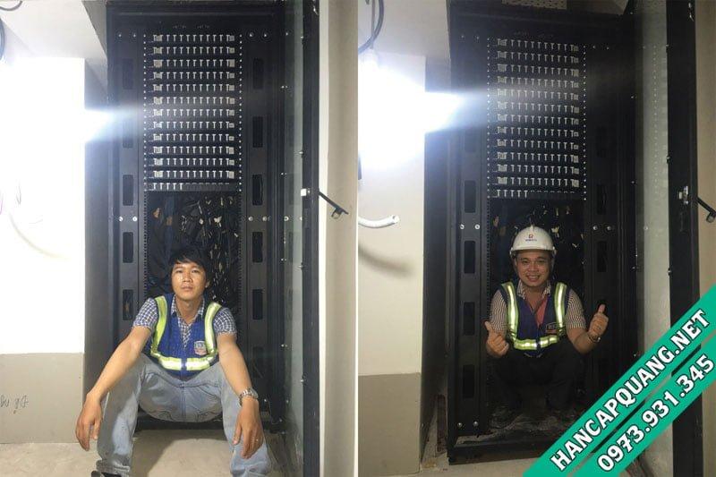 Hoàn thành tủ Rack tổng chứa tất cả các ODF từ tác tầng.