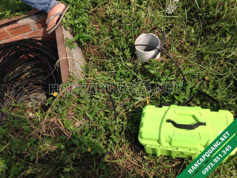 Hàn nối cáp quang Tiền Giang (KCN Long Giang)