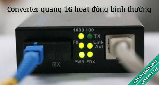 Converter quang điện 1G hoạt động bình thường