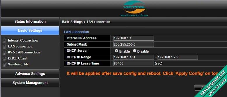 Hướng dẫn cách mở port (NAT port) modem Viettel H640W