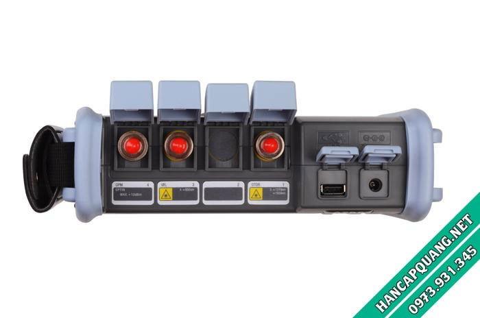 Các cổng chức năng của máy đo bao gồm OTDR, OPM và VFL