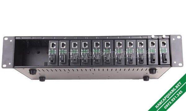 Bộ nguồn tập trung converter quang 16 khe cắm chính hãng