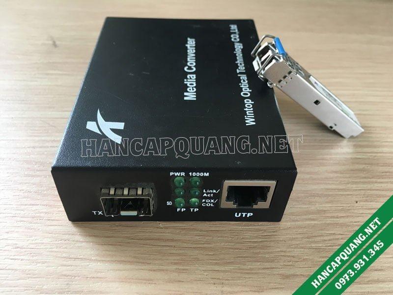 YT-8110G-SFP-AS Bộ chuyển đổi quang điện SFP 10/100/1000M