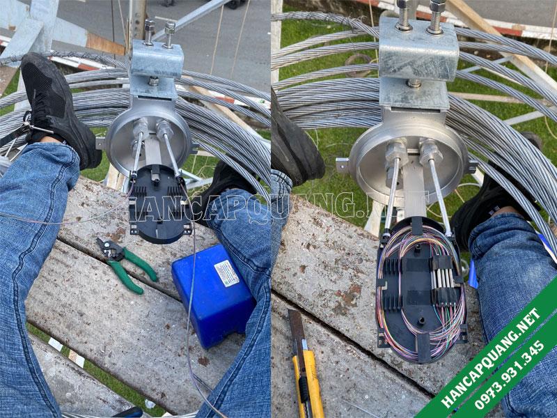 Hàn cáp quang OPGW 48FO điện lực