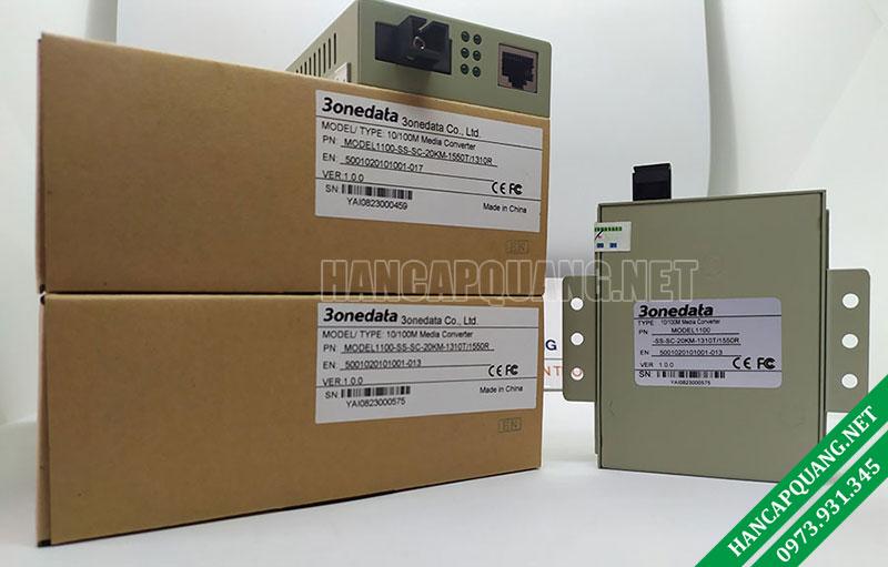 Bộ chuyển đổi quang điện 3Onedata Model 1100-SS-SC-20km