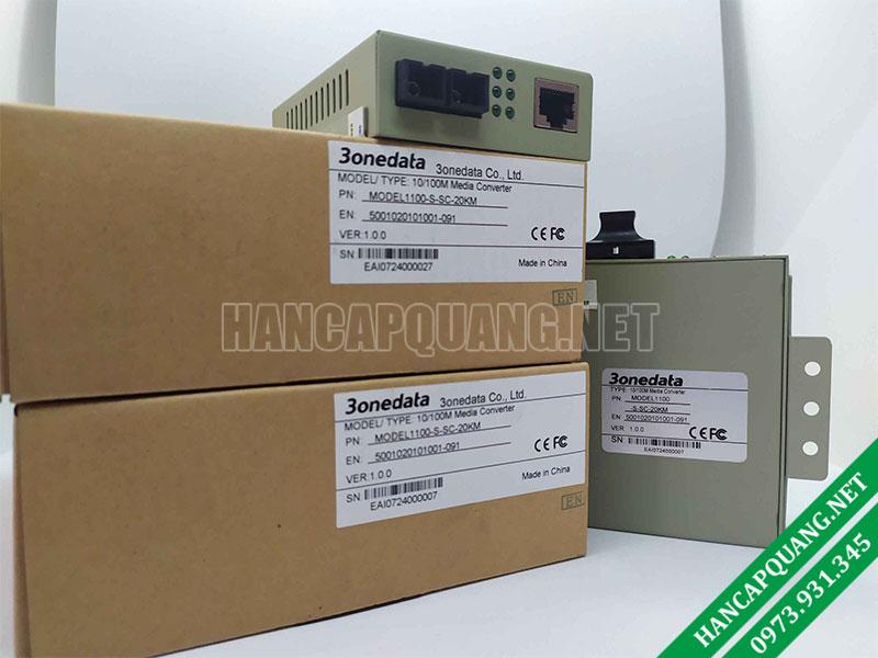 Bộ chuyển đổi quang điện 3Onedata Model 1100S 2 sợi quang