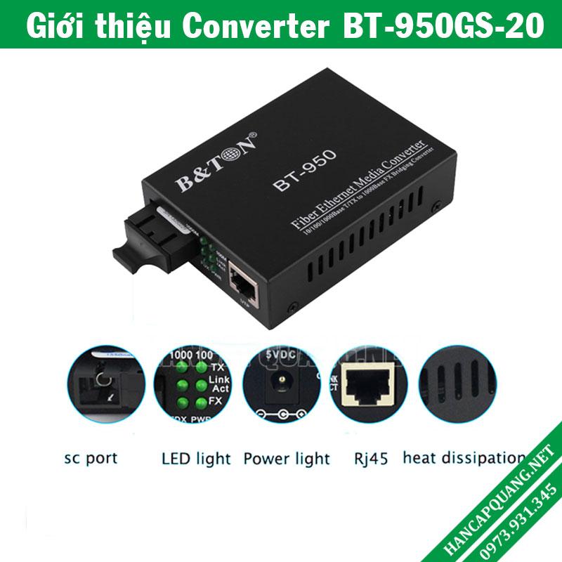 Converter quang BT-950GS-20 10/100/1000M