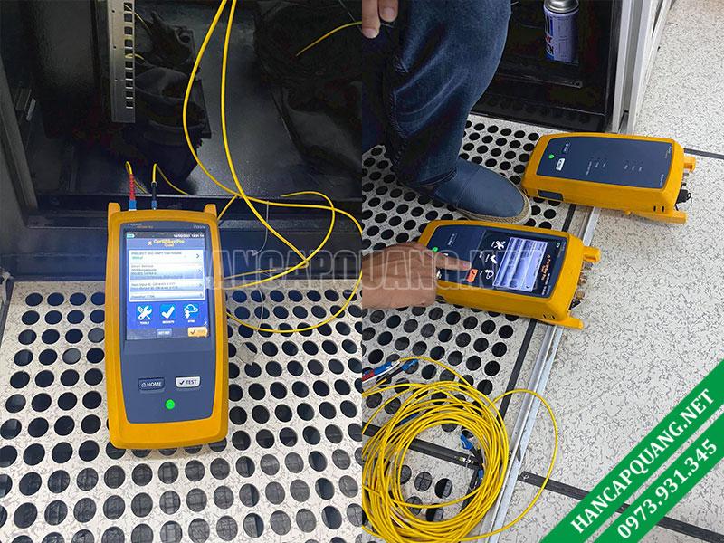 Đo suy hao cáp quang bằng máy đo Fluke CertiFiber Pro Optical Loss Test Set
