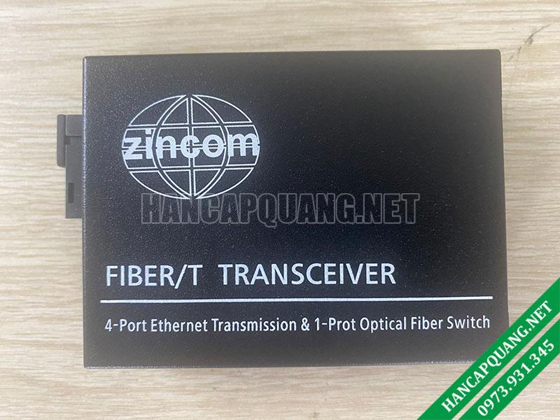 Converter quang Zincom 4 Cổng Ethernet 10/100M ZC-100MA-4E