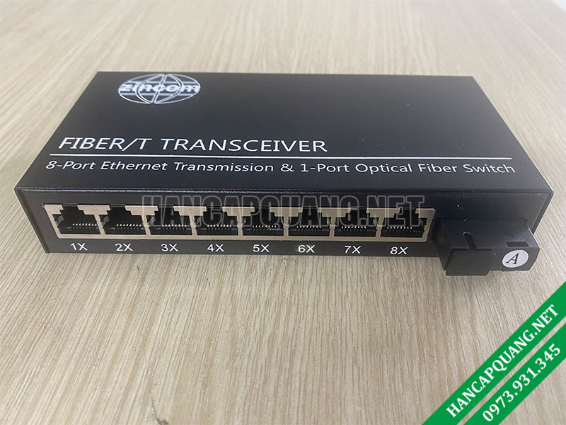 Converter quang Zincom 8 Cổng Ethernet 10/100M