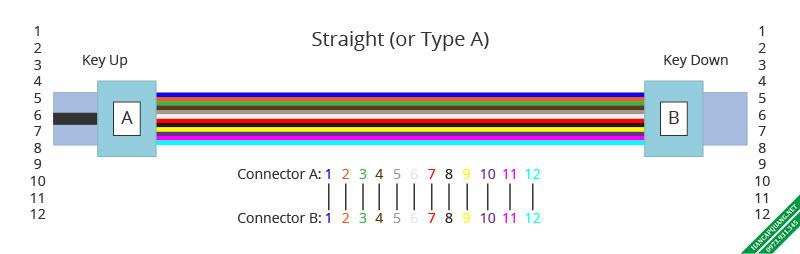 Hình 2: Cáp MTP-12 chuẩn A.